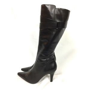 Kenneth Cole Reaction Boot 9 M Black Leather Knee